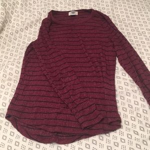 Old navy luxe rib knit sweater tee
